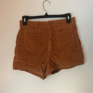 High waisted stretch-corduroy shorts from BDG